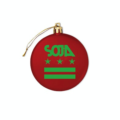 SOJA - Holiday Tree Ornament - Red & Green