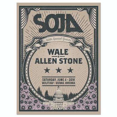 Soja Wolf Trap 2016 Screen Print Edition of 150