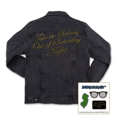 Bleachers Take the Sadness out of Saturday Night Jean Jacket (+Exclusive Jacket Patch Set)