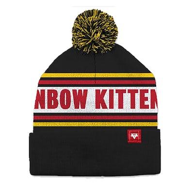Rainbow Kitten Surprise Tag Beanie (Black)