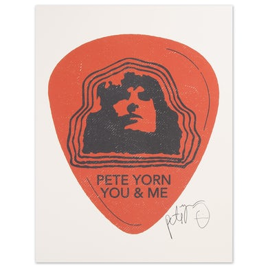 Pete Yorn Guitar Pick Poster - Signed