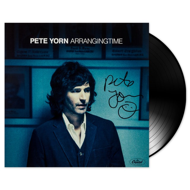 Pete Yorn Autographed Arranging Time Vinyl