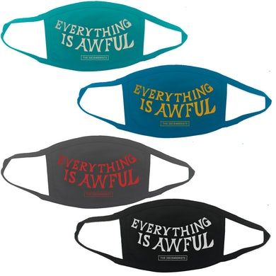 The Decemberists Everything Is Awful Face Mask - 4 Color Mask Bundle