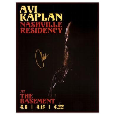 Avi Kaplan At the Basement Signed Poster