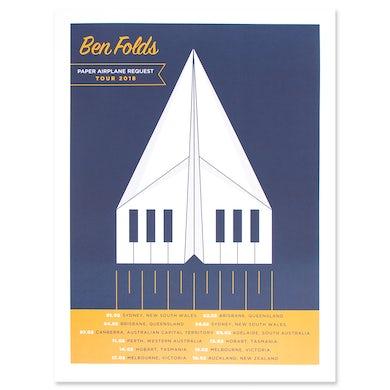 Ben Folds Paper Airplane 2018 Australian Tour Poster