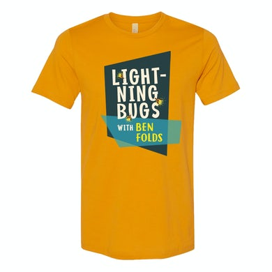Ben Folds Lightning Bugs Mustard T-shirt