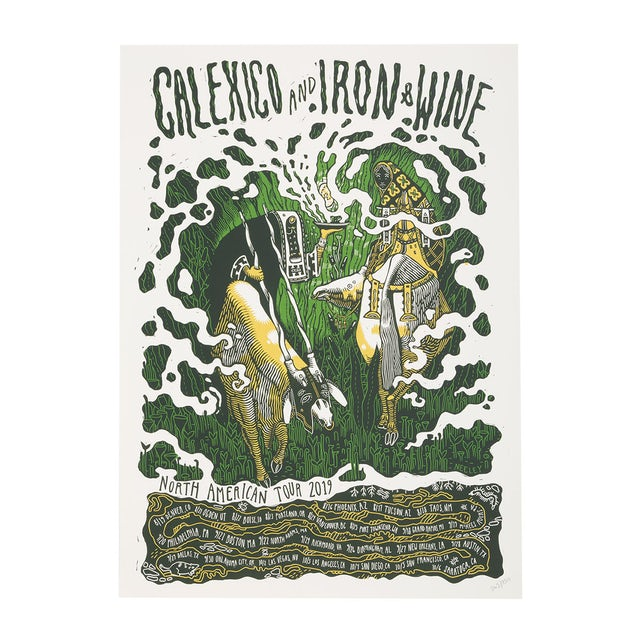 Calexico and Iron & Wine 2019 US Tour Poster