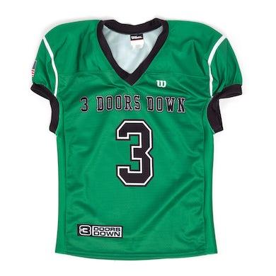 3 Doors Down Green Authentic Football Jersey