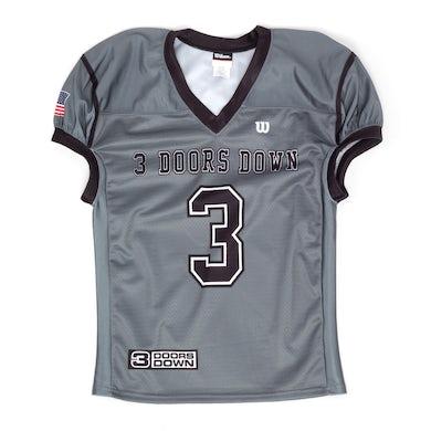 3 Doors Down Grey Football Jersey
