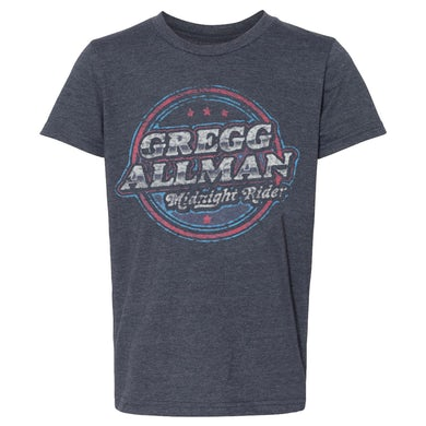 Gregg Allman Youth Midnight Rider Badge T-Shirt