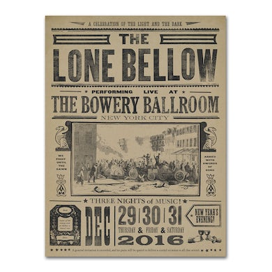The Lone Bellow Bowery Ballroom Poster