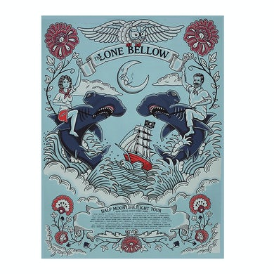 The Lone Bellow 2020 Half Moon Light Tour Poster