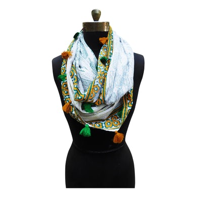 Sasha Crafts -- India: Hand Blockprinted Infinity Stole