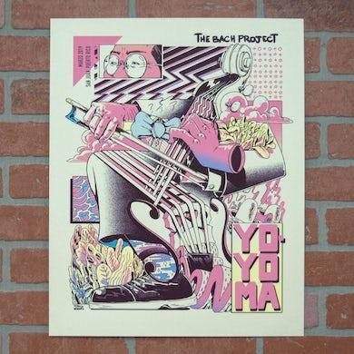 Yo-Yo Ma Poster by Sergio Vazquez: Bach Project in Puerto Rico 2019