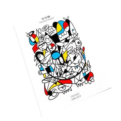 Yo-Yo Ma Poster by Sergio Farfán: Bach Project in Chicago 2019