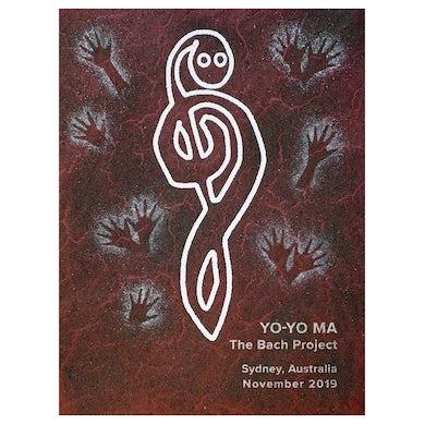 Yo-Yo Ma Poster by Blak Douglas: Bach Project in Sydney, Australia