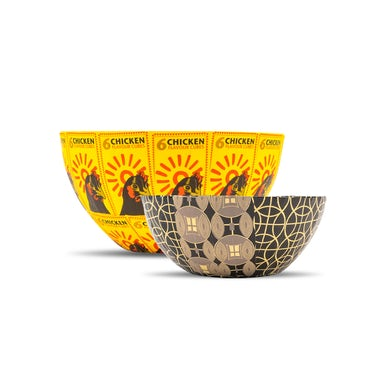 Yo-Yo Ma Wola Nani, South Africa: Nesting Paper Maché Bowls – Chicken