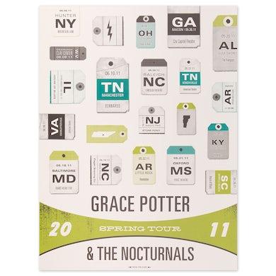 Grace Potter 2011 Spring Tour Poster