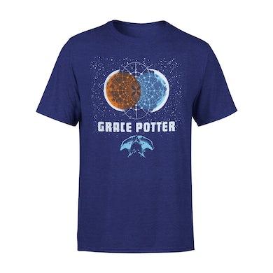 Grace Potter Men's Blue 2016 Tour Tee with Back Print