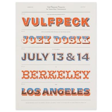 Vulfpeck Greek Theater Los Angeles & Berkeley Exclusive Poster