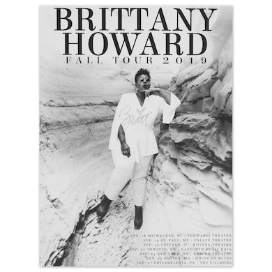 Brittany Howard Signed First Leg Fall Tour Poster