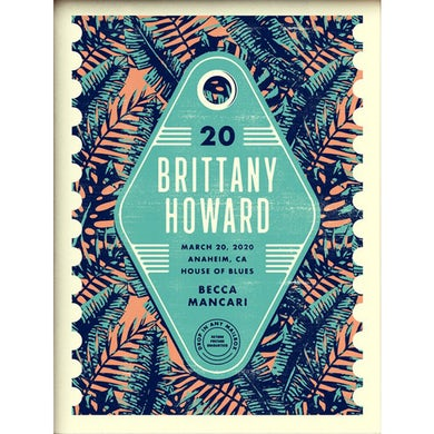 Brittany Howard Anaheim Event Poster