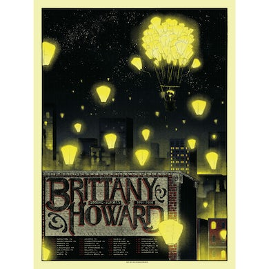 Brittany Howard Spring 2020 Tour Poster