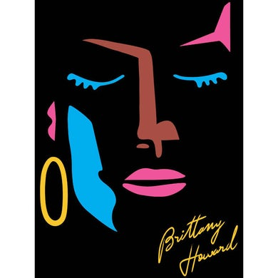 Brittany Howard Abstract Face Sticker