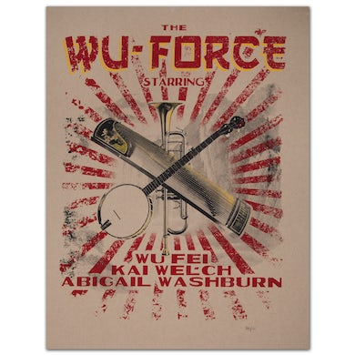 Limited Edition Wu-Force Tour Poster
