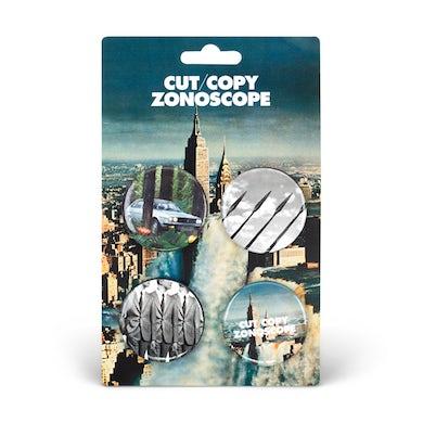 Cut Copy Zonoscope Button Pack