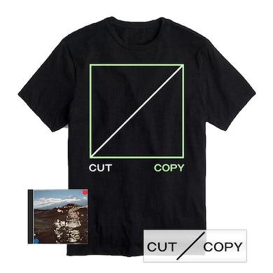 Cut Copy Black Freeze, Melt T-Shirt, CD & Sticker