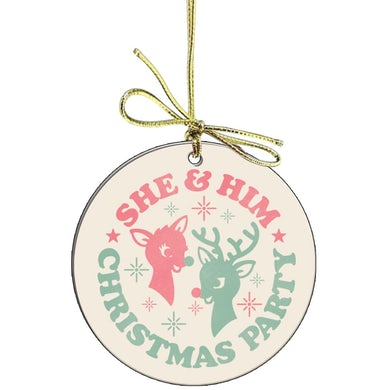 She & Him Holiday Ornament