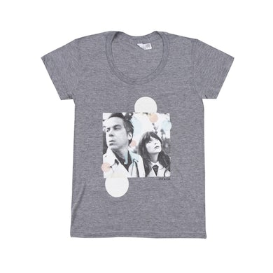 She & Him ALBUM WOMENS TEE W/ DATE AT