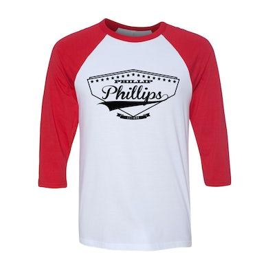 Phillip Phillips Script Baseball Raglan