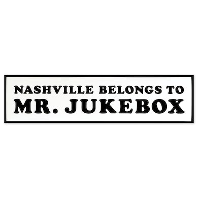 Joshua Hedley Nashville Belongs to Mr. Jukebox Sticker