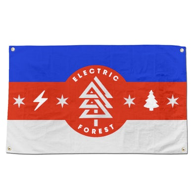 Electric Forest Festival Camp Flag - Red/White/Blue