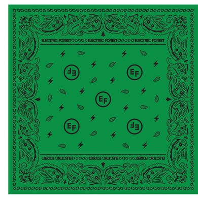 Electric Forest Festival EF Green Paisley Bandana