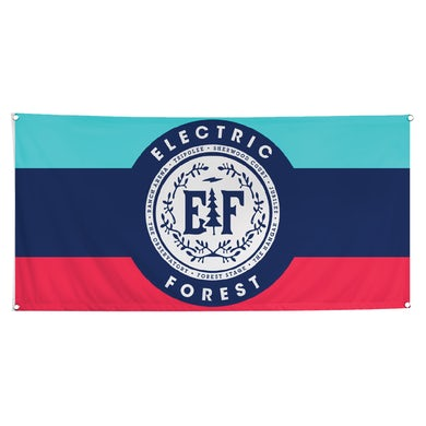 Electric Forest Festival Vines Camp Flag