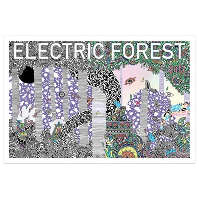 Electric Forest Festival Electric Forest Screen Print Poster
