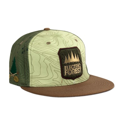 Electric Forest Festival Official 2017 Grassroots California custom flat brim, snap back - FOREST PATCH