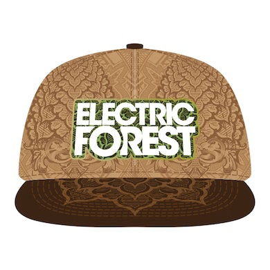 Electric Forest Festival Grassroots CA Custom Brown Leather Hat