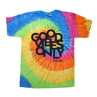 Electric Forest Festival Electric Forest Good Vibes Only Tie Dye T-Shirt