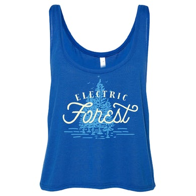 Electric Forest Festival Electric Forest Script Ladies Crop Tank