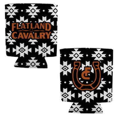 Flatland Cavalry Black and White Aztec Pattern Coolie