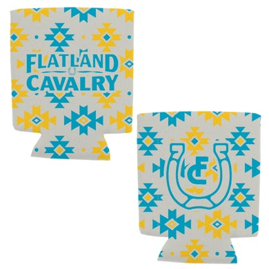 Flatland Cavalry Teal and Yellow Aztec Pattern Coolie