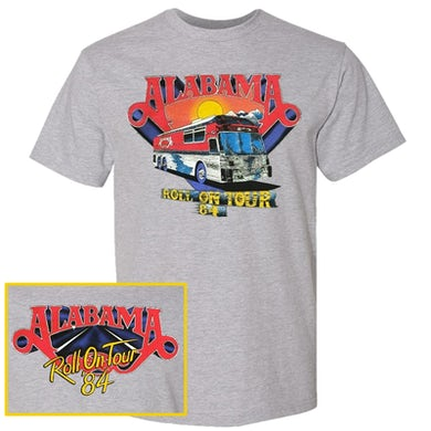 Alabama Sport Grey Roll On Tour Tee