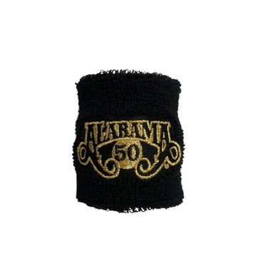 Alabama 50th Anniversary Black Sweatband