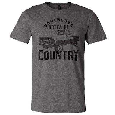 Easton Corbin Deep Heather Tee- Somebody's Gotta Be Country