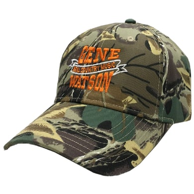 Gene Watson Real Country Music Camo and Black Ballcap