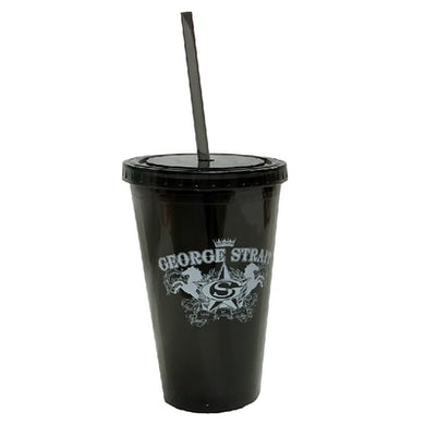 George Strait Black Acrylic Tumbler
